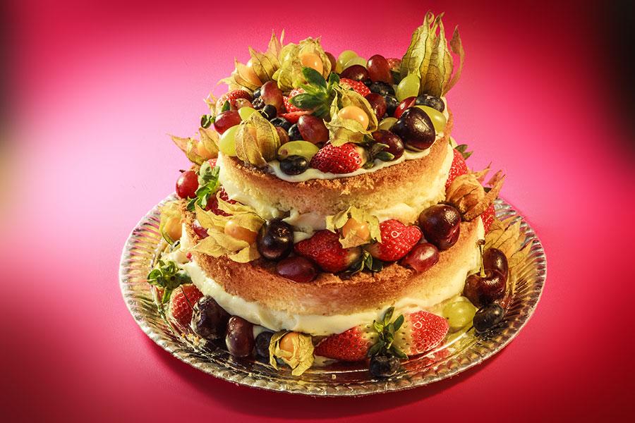 bolo pelado / naked cake