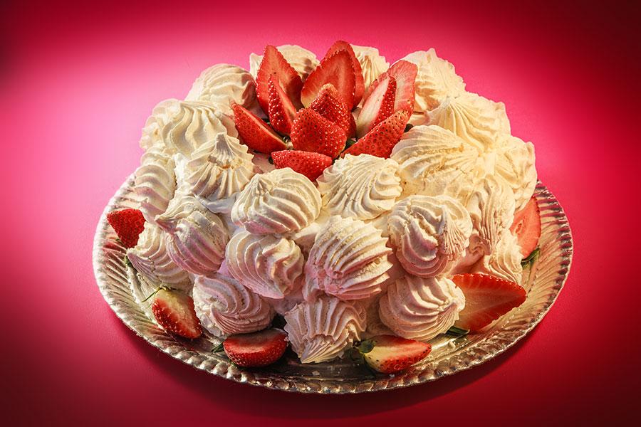 bolo floresta branca com suspiro